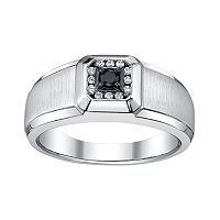Platina 4 1/5-ct. T.W. Black & White Diamond Ring - Men