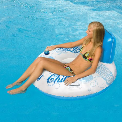 Rave Sports Chillin' Inflatable Tube Pool Float
