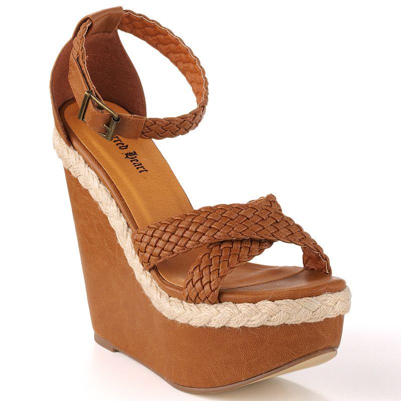 Sacred Heart Lion Women's Platform Wedge Sandals