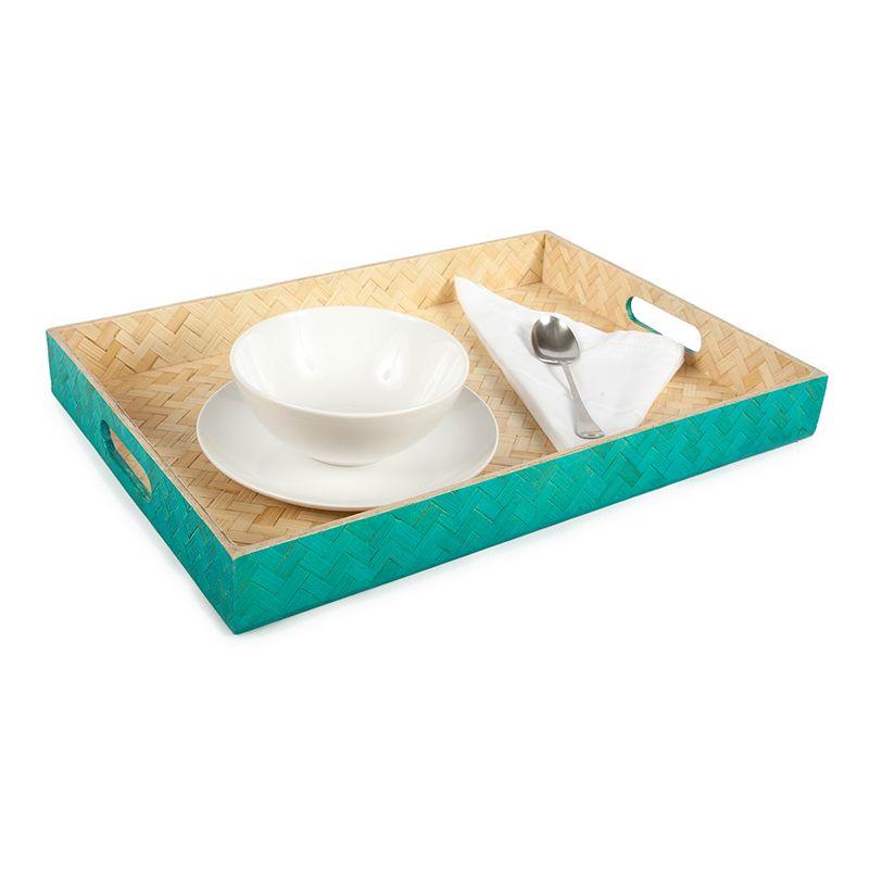 Core Bamboo Zig-Zag Woven Breakfast Serving Tray