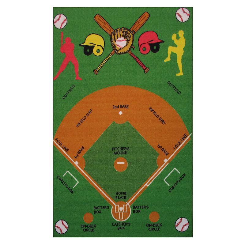 Fun Rugs Fun Time Baseball Field Rug - 3'3'' x 4'10''