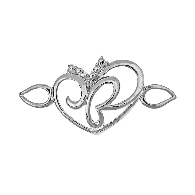Loopz Sterling Silver Openwork Heart Clasp