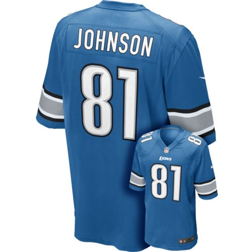 Men's Nike Detroit Lions Calvin Johnson Game NFL Replica Jersey