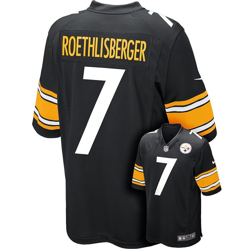Men's Nike Pittsburgh Steelers Ben Roethlisberger Game NFL Replica Jersey - Men