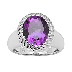 Sterling Silver Amethyst Ring by