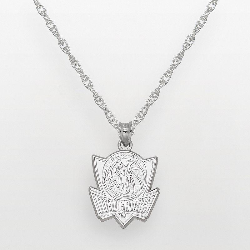 Dallas Mavericks Sterling Silver Logo Pendant