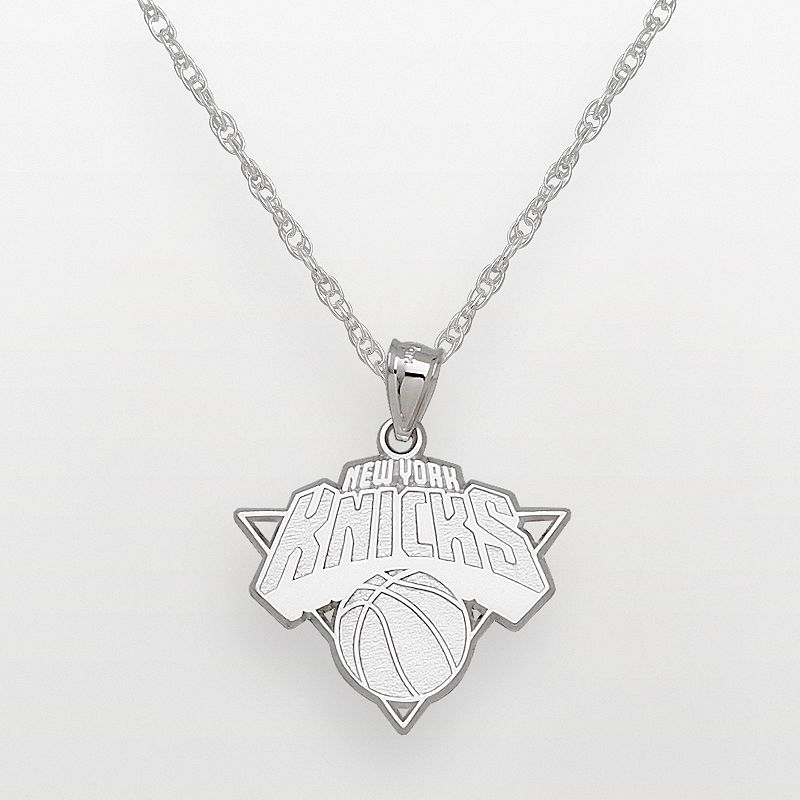 New York Knicks Sterling Silver Logo Pendant