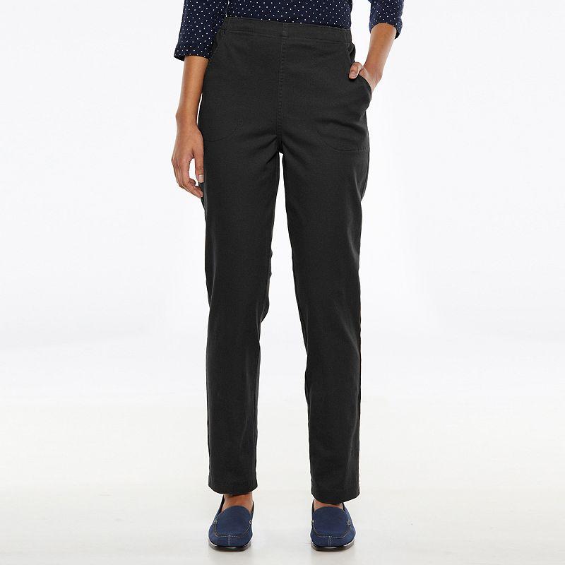 Croft & Barrow® Pull-On Stretch Straight-Leg Pants - Women's