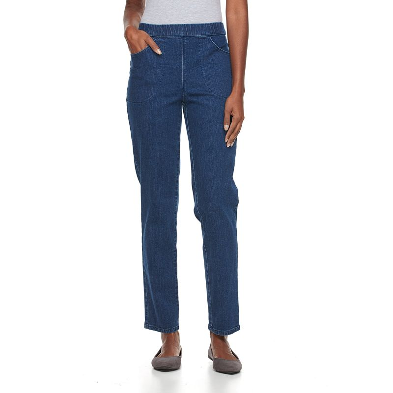 Croft & Barrow® Pull-On Straight-Leg Stretch Jeans - Women's