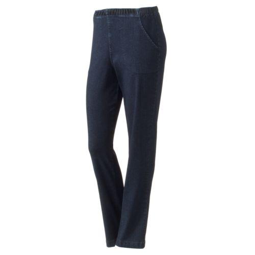 Croft & Barrow® Pull-On Straight-Leg Stretch Jeans - Women's