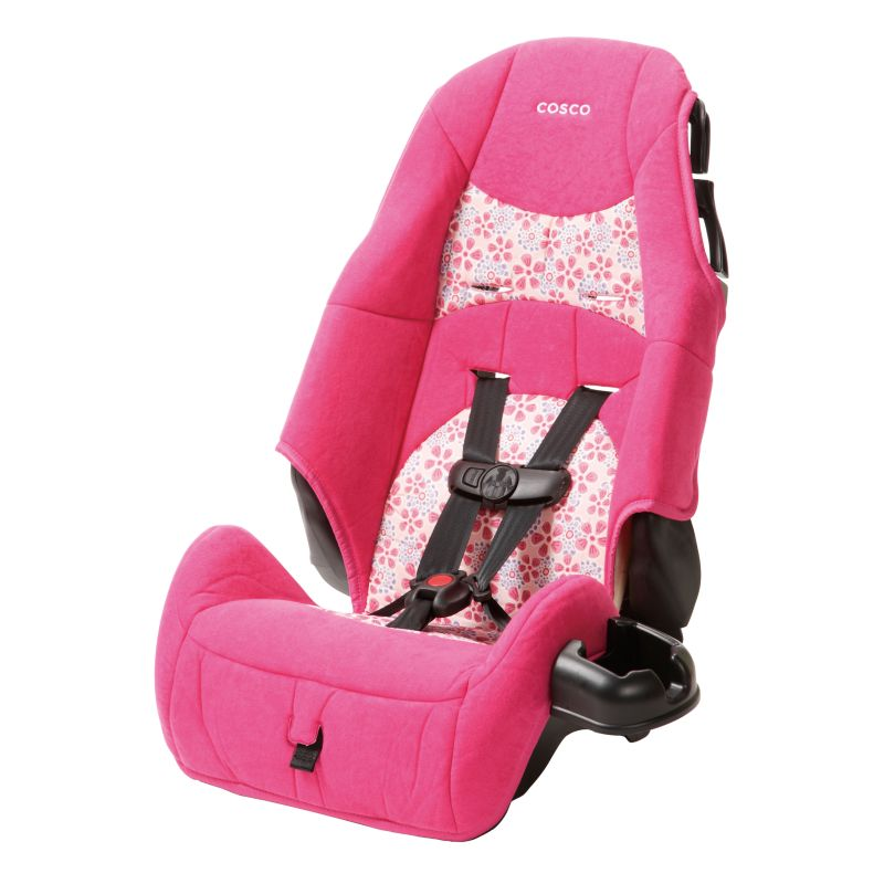 Cosco Ava Highback Booster Car Seat, Pink