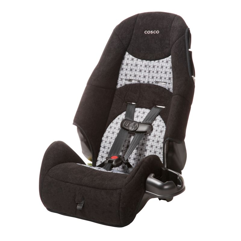 Cosco Windmill Highback Booster Car Seat, Black