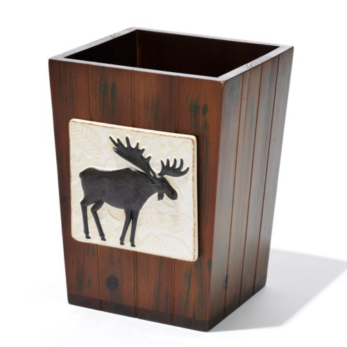 Bacova Woodlands Wastebasket