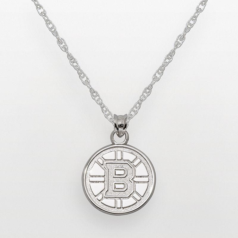 LogoArt Boston Bruins Sterling Silver Logo Pendant