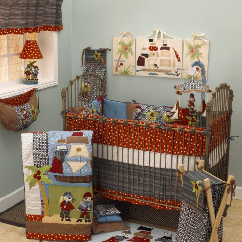 Cotton Tale 3-pc. Pirates Cove Crib Bedding Set