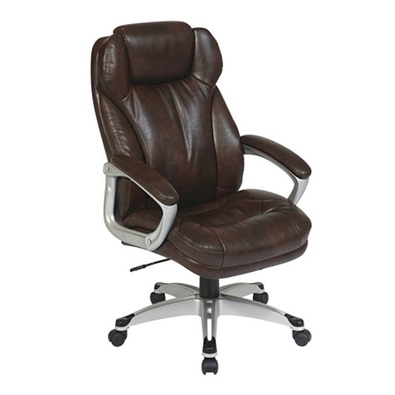 Office Star Products Espresso Executive Eco-Leather Chair