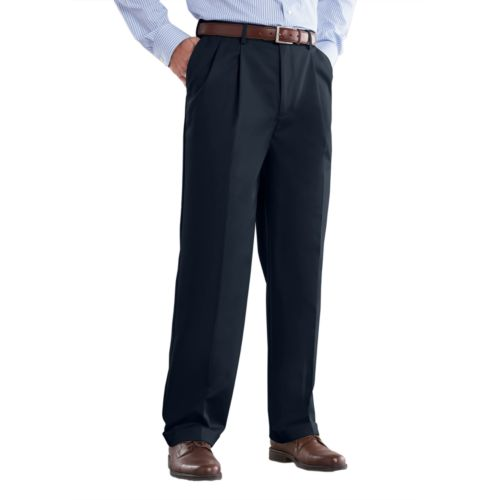 Croft & Barrow® No Iron Classic-Fit Pleated Pants - Big and Tall