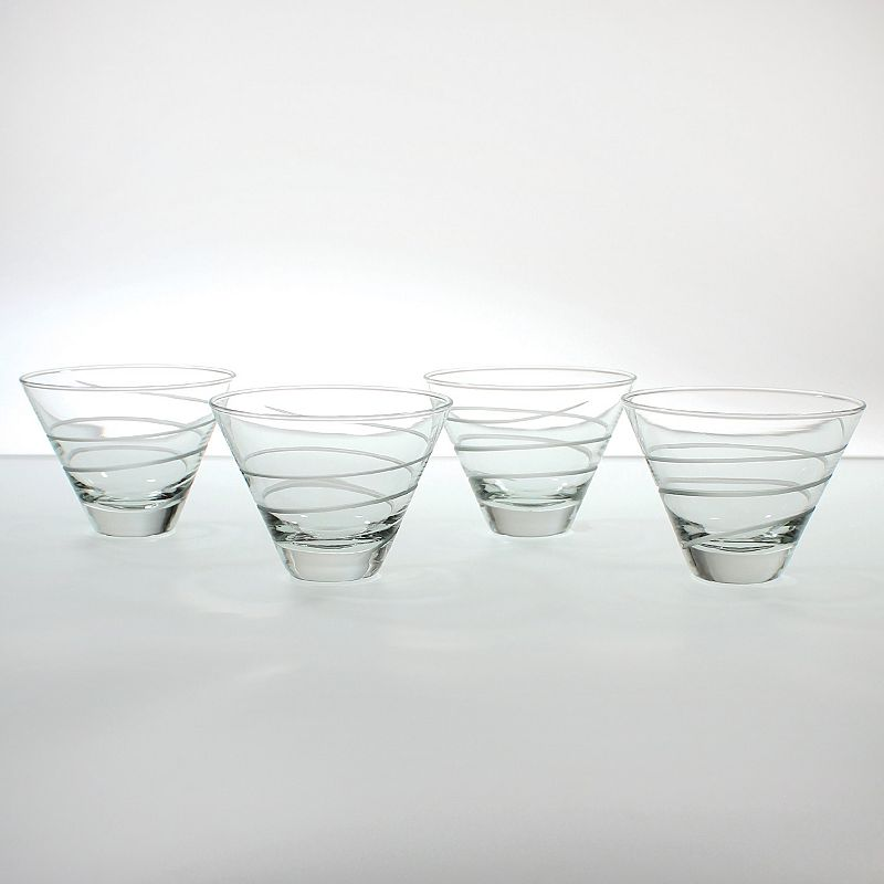 Rolf Glass Spiral 4-pc. Martini Tumbler Set