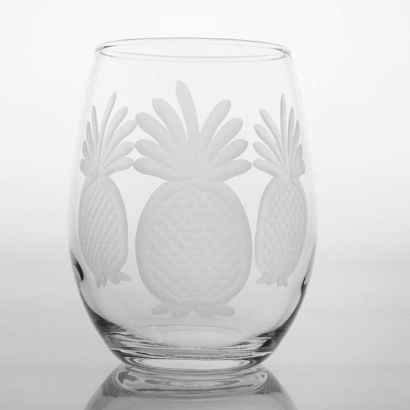 Rolf Glass Pineapple 4-pc. White Wine Tumbler Set