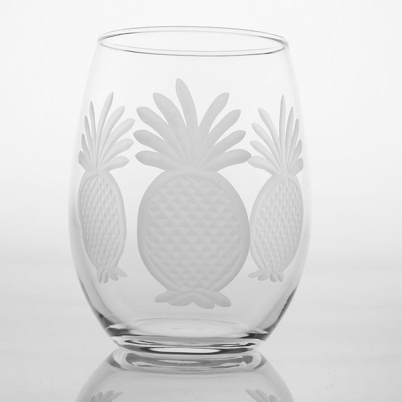 Rolf Glass Pineapple 4-pc. Red Wine Tumbler Set