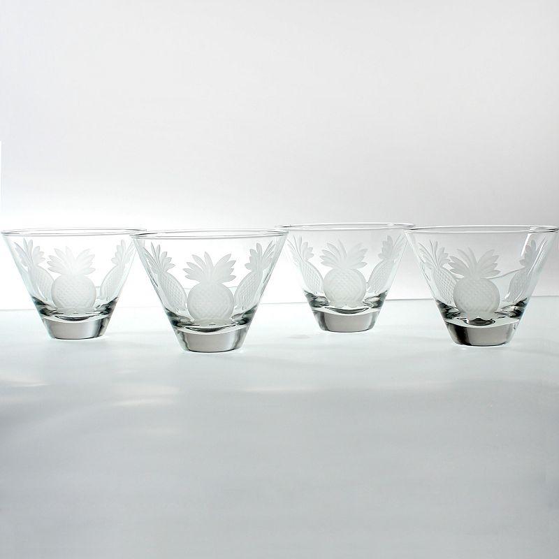Rolf Glass Pineapple 4-pc. Martini Tumbler Set