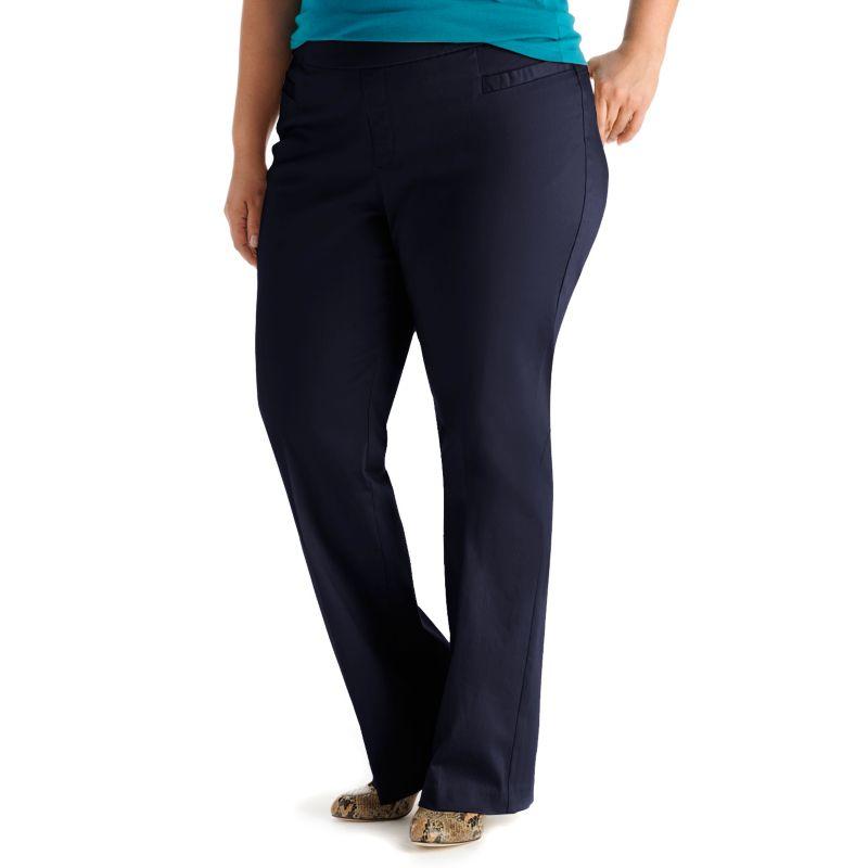 Plus Size Lee Slimming Pull-On Flare Pants, Women's, Size: 16W AV/REG, Blue