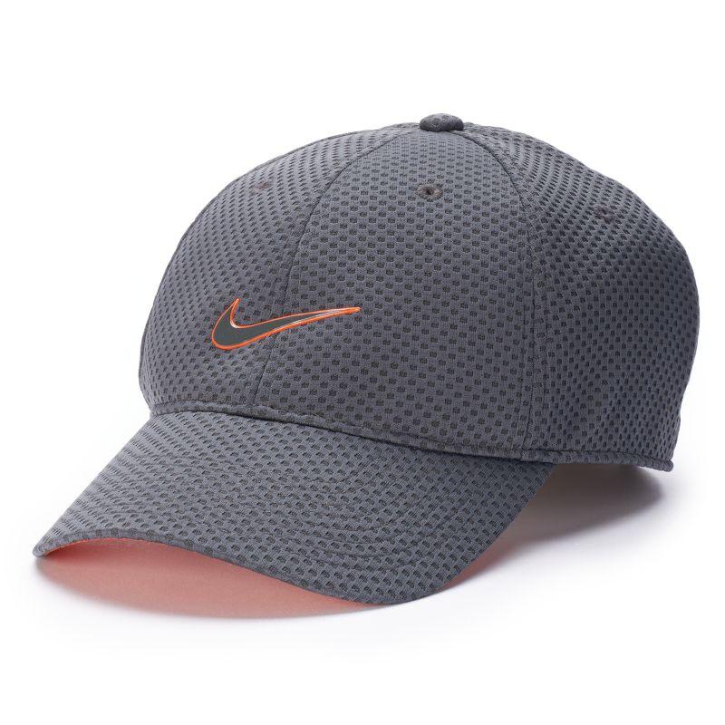 nike dri fit heritage mesh baseball cap s grey