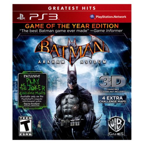 Batman: Arkham Asylum Game of the Year Edition for PlayStation 3