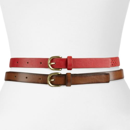SONOMA life + style® Perforated and Smooth Belt Set