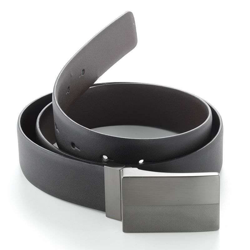 Apt. 9® Reversible Plaque Leather Belt