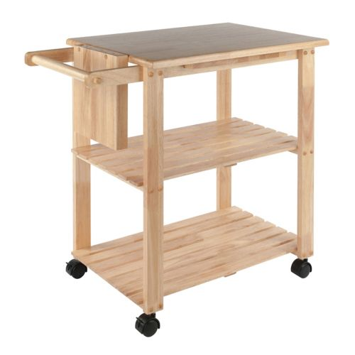 Winsome Knife Block and Cutting Board Kitchen Cart