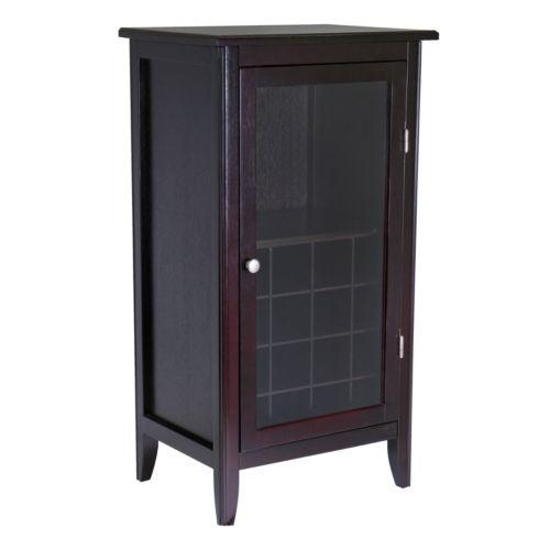 Winsome Glass Door 16-Bottle Wine Cabinet