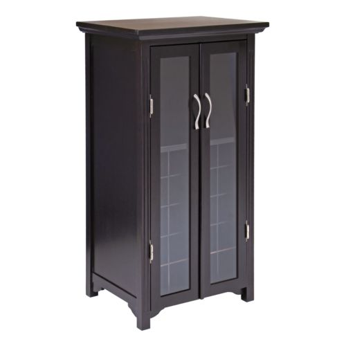 Winsome Frosted Glass Door 20-Bottle Wine Cabinet