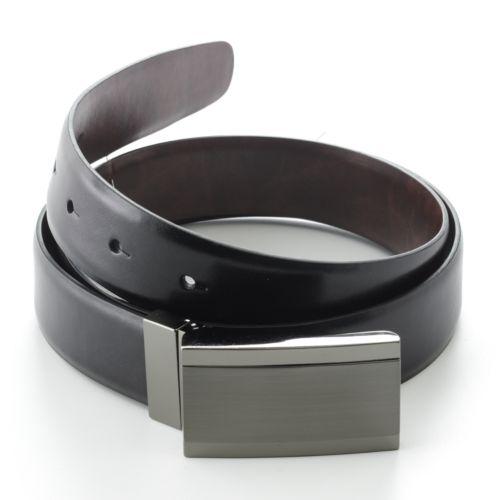 Apt. 9® Plaque Reversible Leather Belt