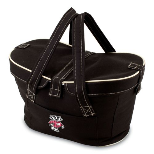 Picnic Time Mercado Wisconsin Badgers Insulated Basket
