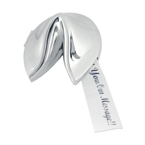 Natico Polished Silver Fortune Cookie
