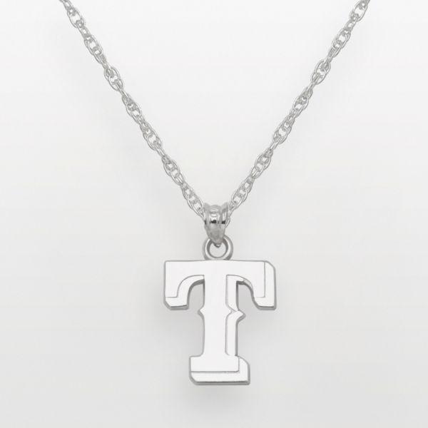 LogoArt Texas Rangers Sterling Silver Logo Pendant