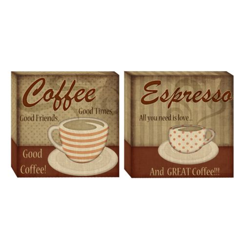 Head West 2-pc. Classic Coffee Wall Art Set