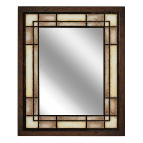 Head West Tea Glass Rectangle Wall Mirror