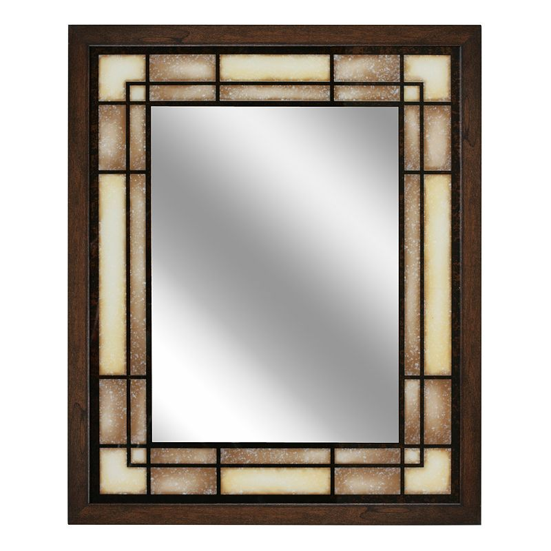 Head West Tea Glass Rectangle Wall Mirror
