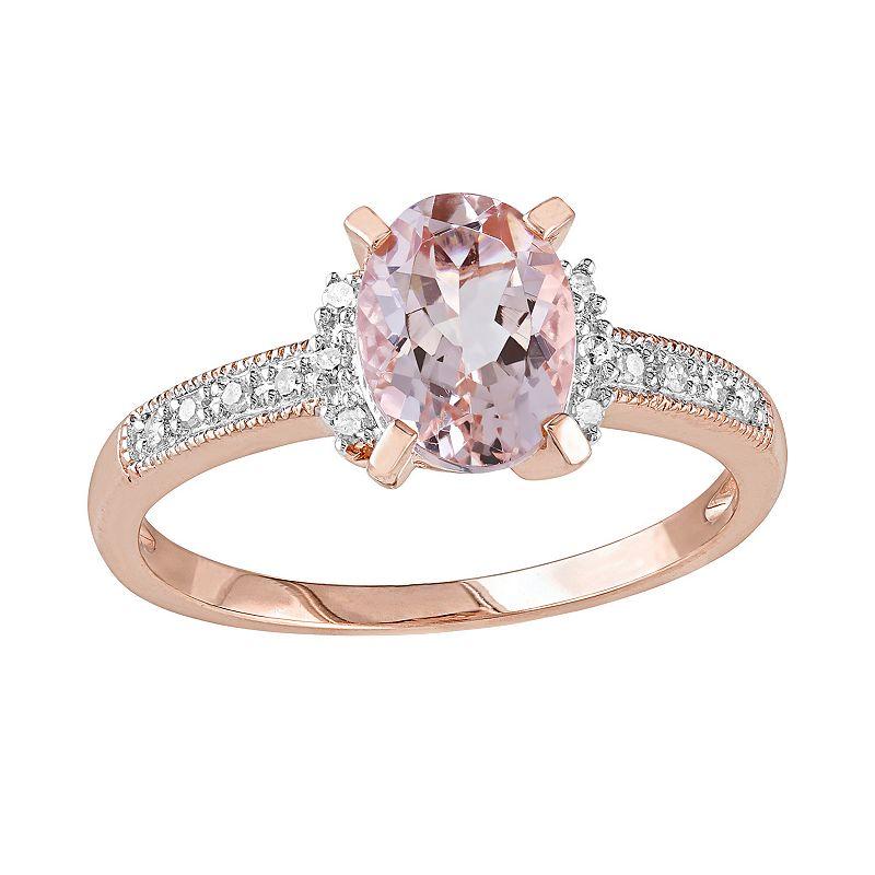 Morganite oval jewelry kohl 39 s for Kohls jewelry mens rings