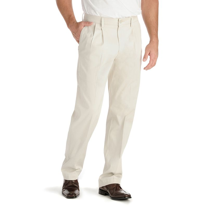 Big & Tall Lee Motion Comfort Classic-Fit No-Iron Pleated Pants
