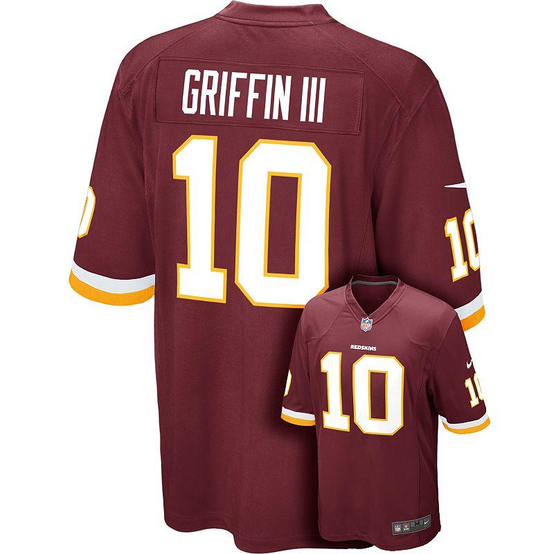 Men's Nike Washington Redskins Robert Griffin III Game NFL Replica Jersey