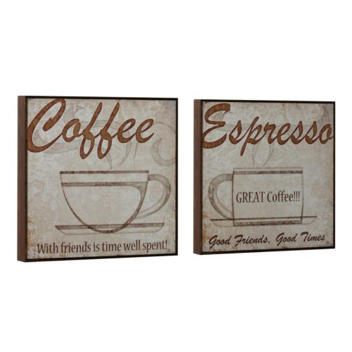 Head West 2-pc. Vintage Coffee Wall Art Set