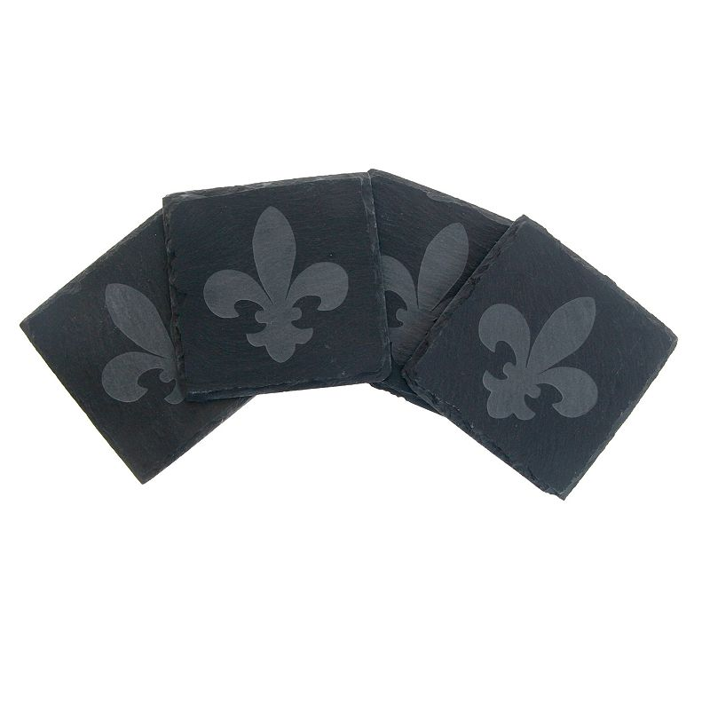 Thirstystone Fleur-de-Lis 4-pc. Slate Coaster Set
