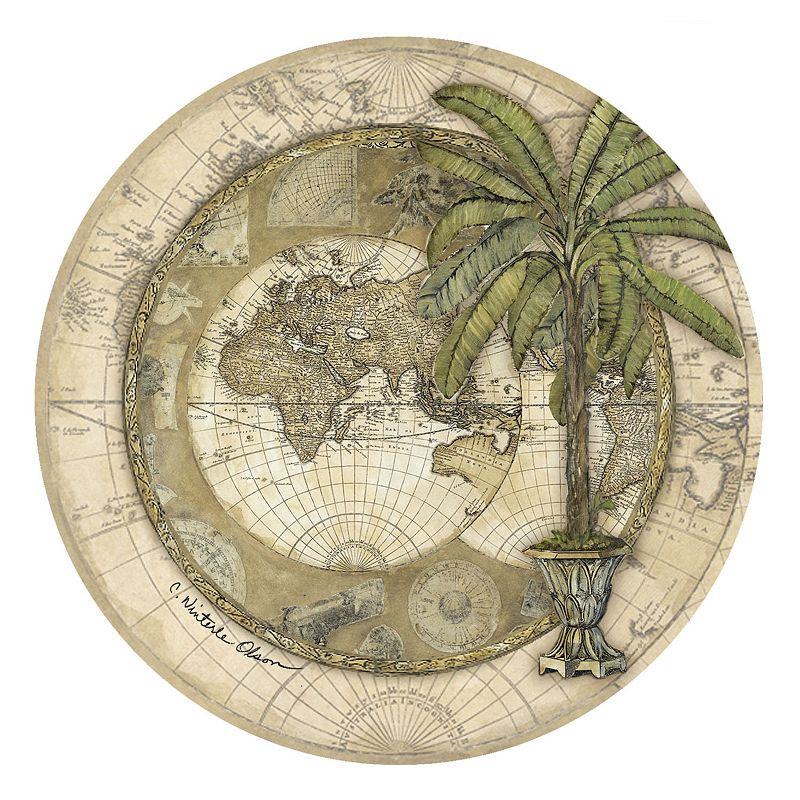 Thirstystone Old World Map 4-pc. Coaster Set