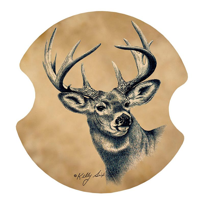 Thirstystone Deer 2-pc. Car Coaster Set