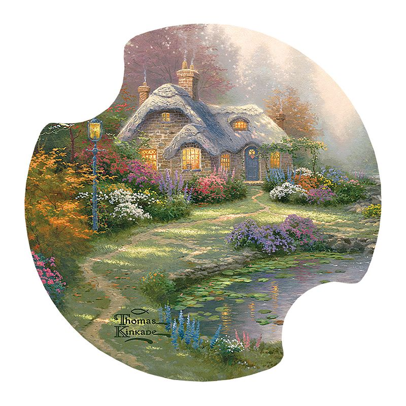 Thirstystone Thomas Kinkade ''Everett's Cottage'' 2-pc. Car Coaster Set