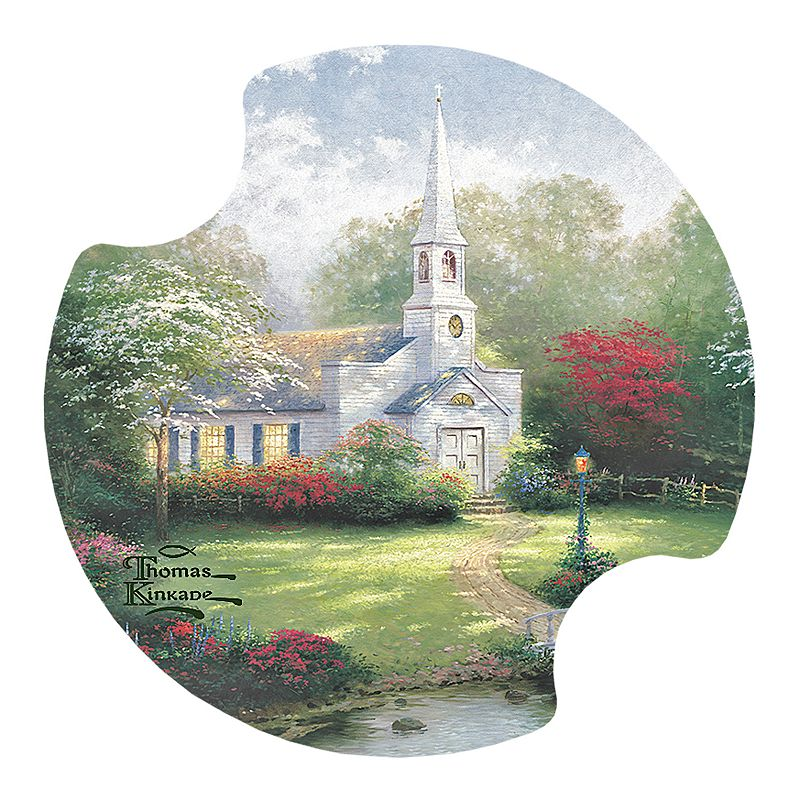 Thirstystone Thomas Kinkade ''Hometown Chapel'' 2-pc. Car Coaster Set