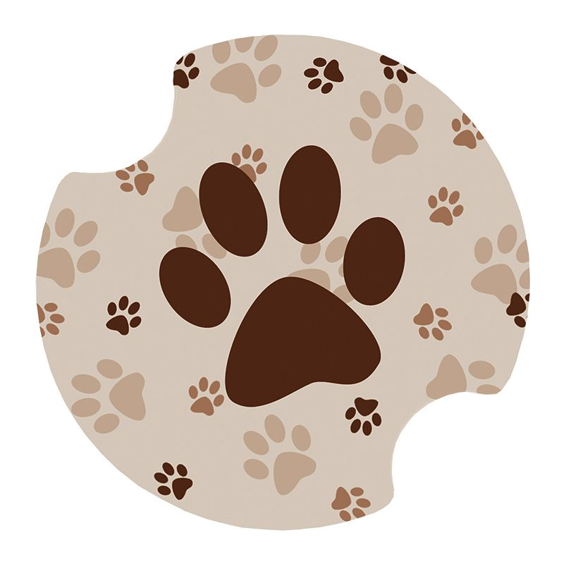 Thirstystone Paw-Print 2-pc. Car Coaster Set